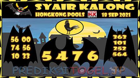 Syair Kalong HK Malam ini 18 September 2021