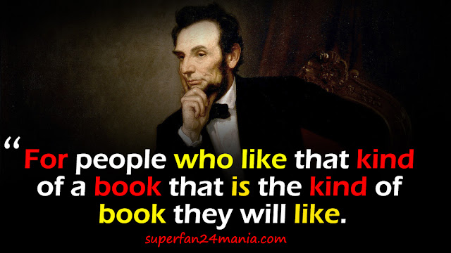 """""""For people who like that kind of a book that is the kind of book they will like."""""""