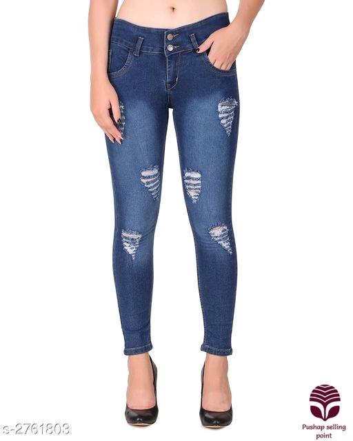 *Annabelle Fashionable Denim Solid Women's Jeans