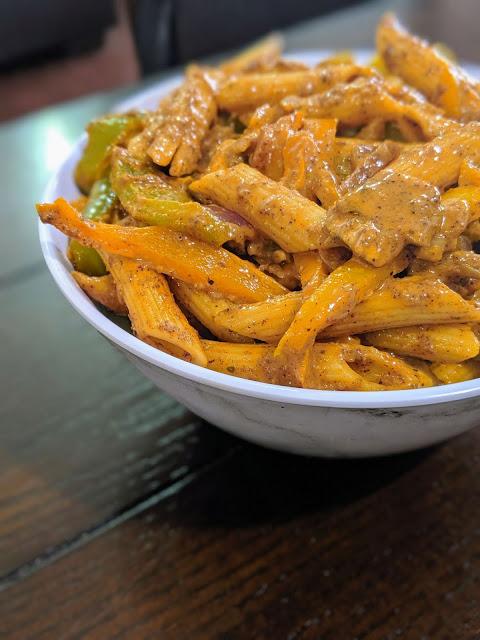 Vegetarian Fajita Pasta