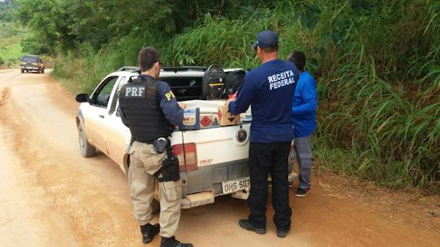 PRF e Receita Federal apreendem R$ 100 mil em mercadorias em Rondônia