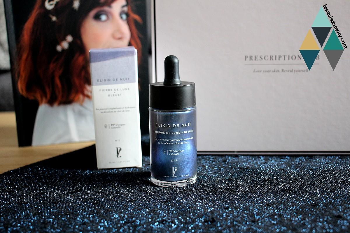 elixir de nuit poudre de nuit et bleuet prescription lab beauty avis