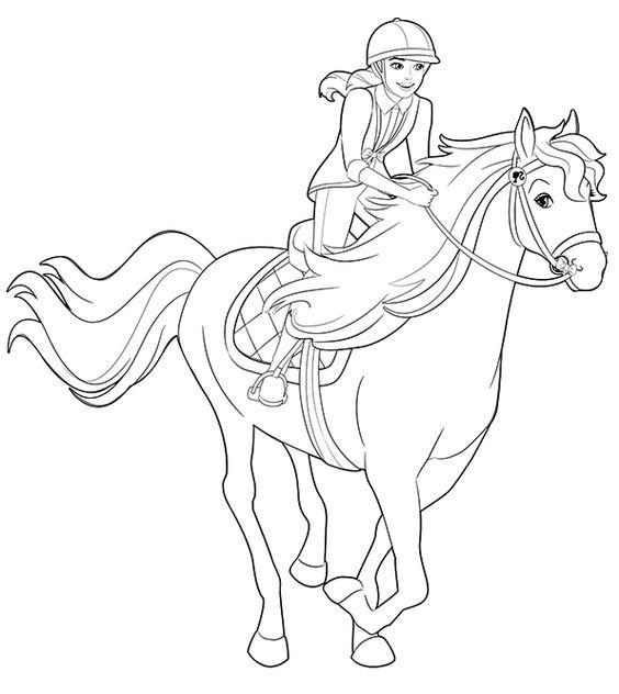 Tranh tô màu dáng người cưỡi ngựa