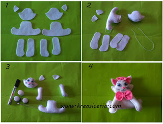 Tutorial cara membuat boneka kucing angela part 2