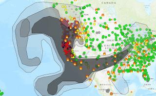 western USA smoke map