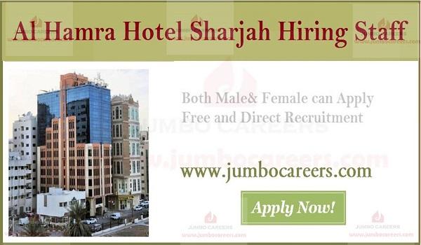 Al Hamra Hotel Sharjah Job Vacancies Walk In Interview February 2019