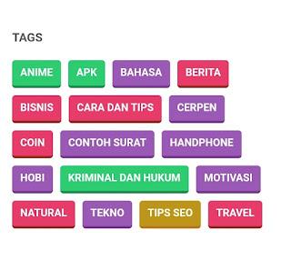 Contoh widget Label Keren