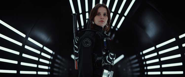 Felicity Jones stars as Jyn Erso in Rogue One: A Star Wars Story.