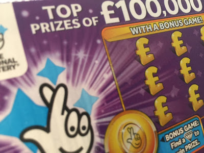 £1 Purple National Lottery Scratchcard