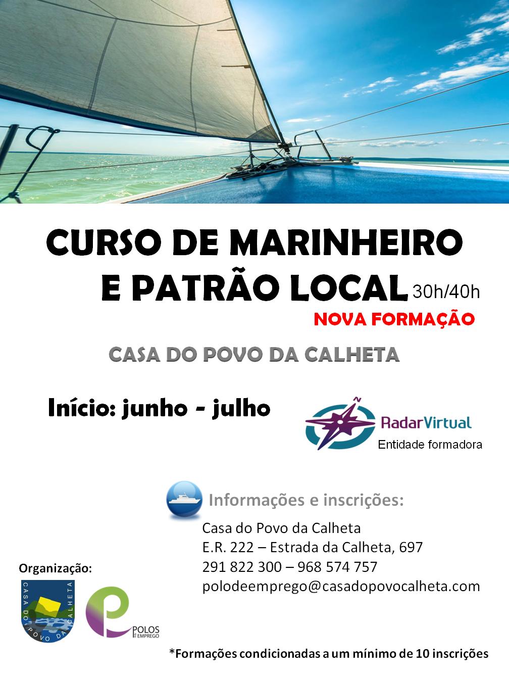 CURSO DE MARINHEIROS E PATRÃO LOCAL