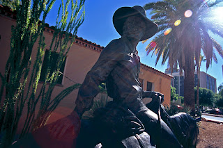 Cowboy statue at Tucson Museum of Art