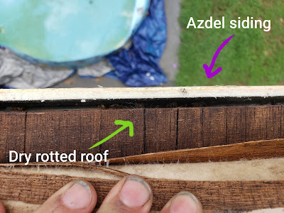 Azdel siding on a dry rotted roof
