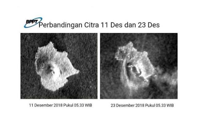 Ngeri, Begini Detik-detik Video Letusan Gunung Anak Krakatau Pasca Stunami Selat Sunda
