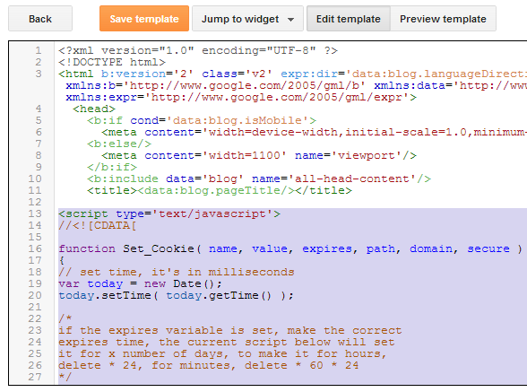 Adsense Main Code Blogger