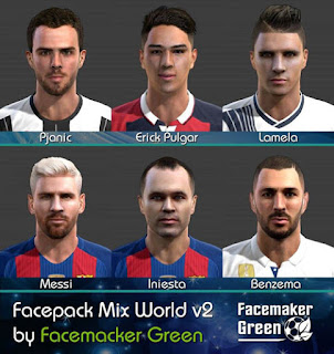 PES 2013 Facepack Mix World v2 By Green