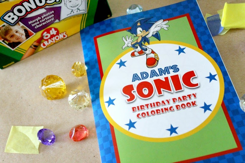 sonic the hedgehog party favors, sonic the hedgehog party activities