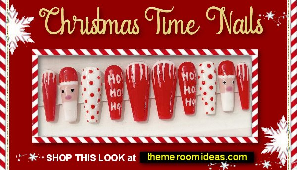 Christmas Santa Press on Nails christmas decorating christmas party decorations
