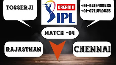 Rajasthan vs Chennai IPL 2020 4th match