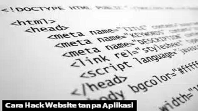 Cara Hack Website tanpa Aplikasi