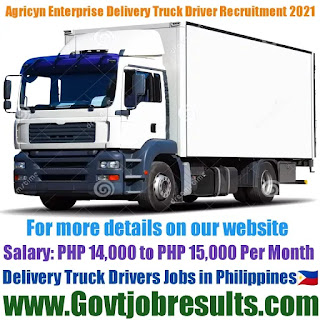 Agricyn Enterprise Delivery Truck Driver Recruitment 2021-22