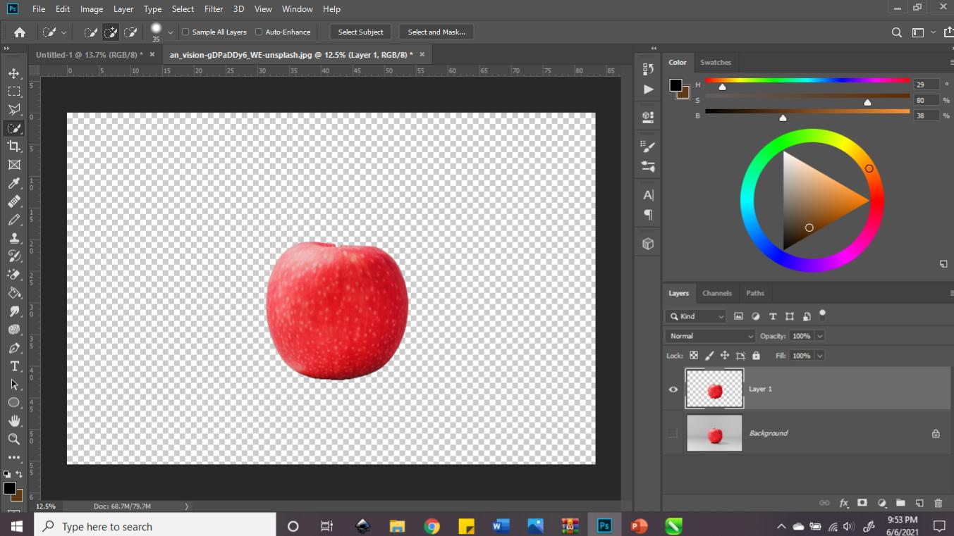 Cara Memotong Gambar di Photoshop