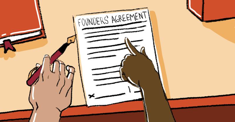 две руки, подписывающие договор