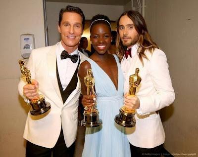 Oscars 2014 Matthew McConaughey, Lupita Nyong'o et Jared Leto