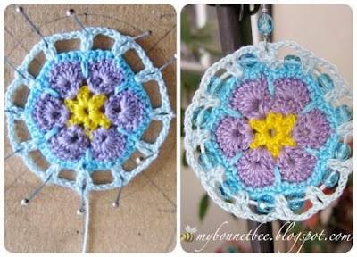 Medidas, formas de pendientes crochet y tutorial