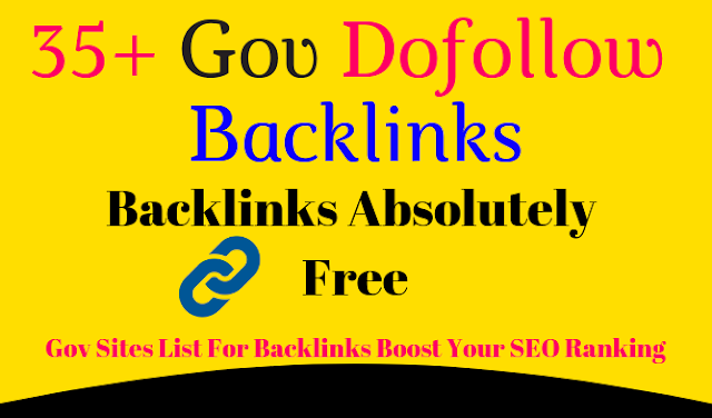 Free Backlinks - Gov Sites List For Backlinks Boost Your SEO Ranking
