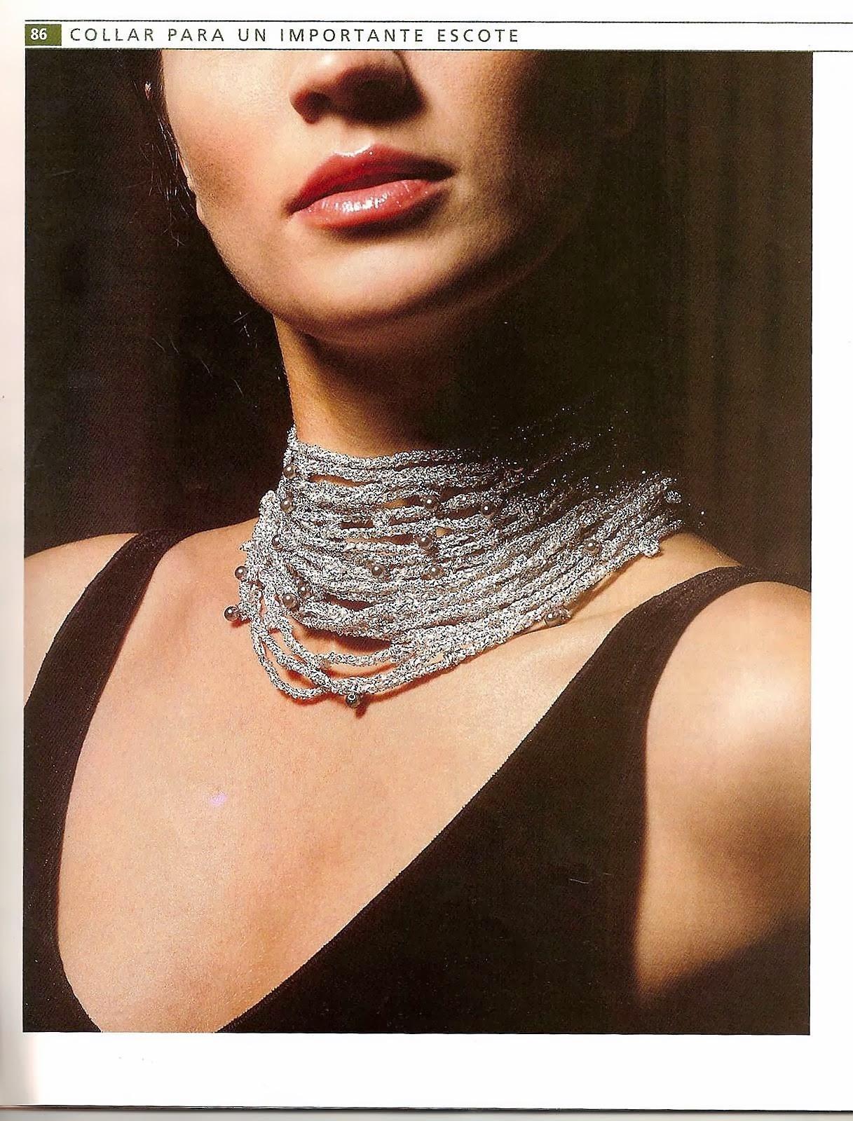 Collar Lurex con Perlas en Cadenetas Patron