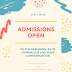 Admission Open September 2019
