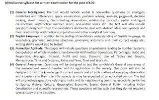 CCRAS Lower Division Clerk LDC Exam Syllabus Pattern.png