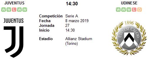 Juventus vs Udinese en VIVO