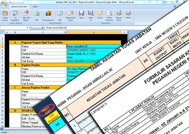 Aplikasi SKP (Sasaran Kerja PNS) Terbaru 2019-2020 Format Microsoft Excel
