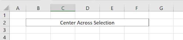 सेंटर अक्रॉस सेलेक्शन (Center Across Selection)