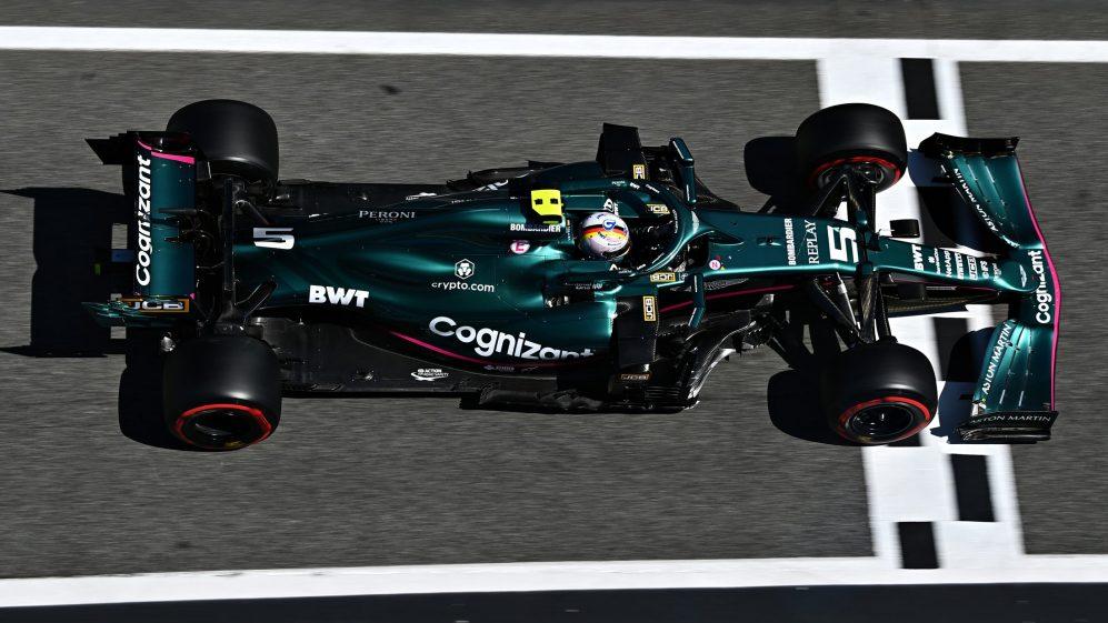 Vettel foi equipado com a atualização na Espanha