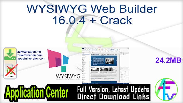 WYSIWYG Web Builder 16.0.4 + Crack