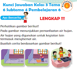Kunci Jawaban Kelas 3 Tema 6 Subtema 4 Pembelajaran 6 www.simplenews.me