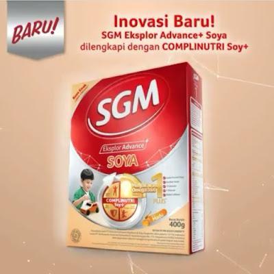 Inovasi Baru SGM Eksplor Advance+ Soya Dengan ComplinutriSoy+