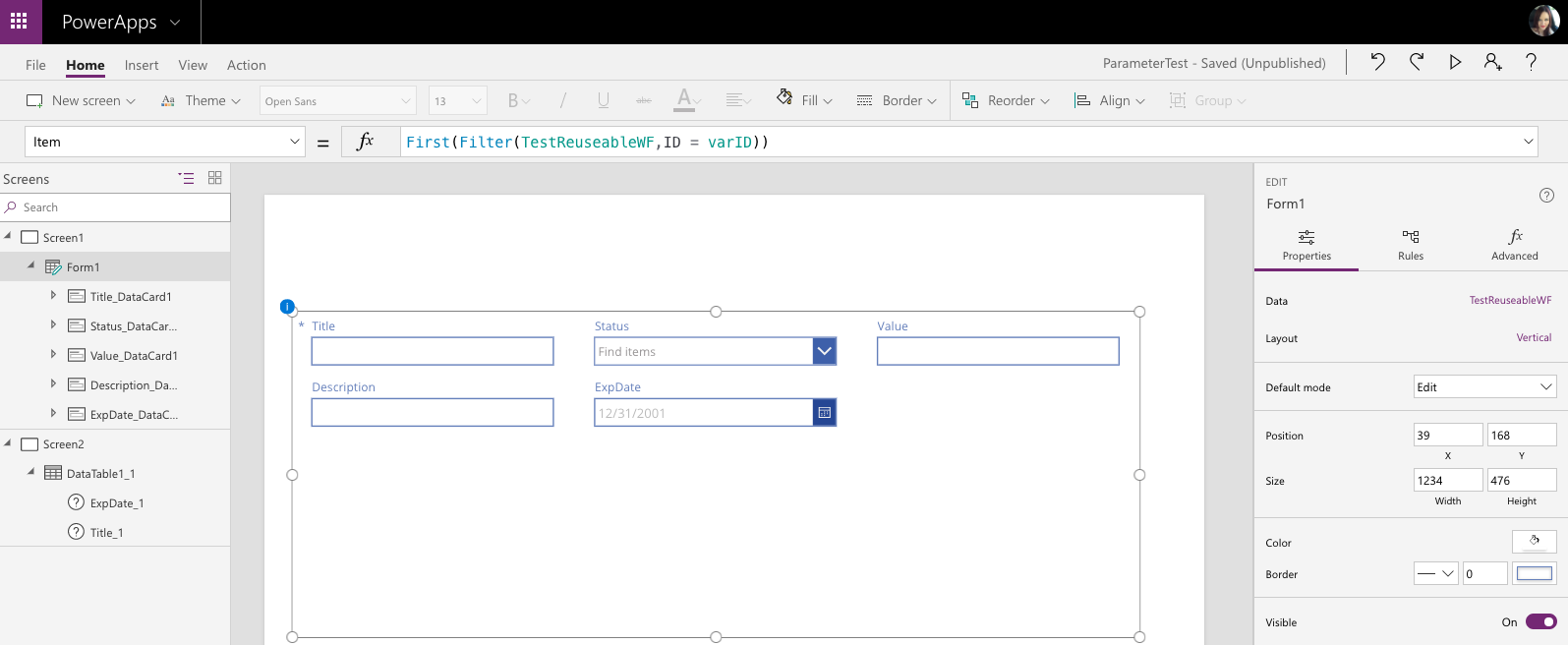 Powerapps patch sharepoint date field | Microsoft PowerApps