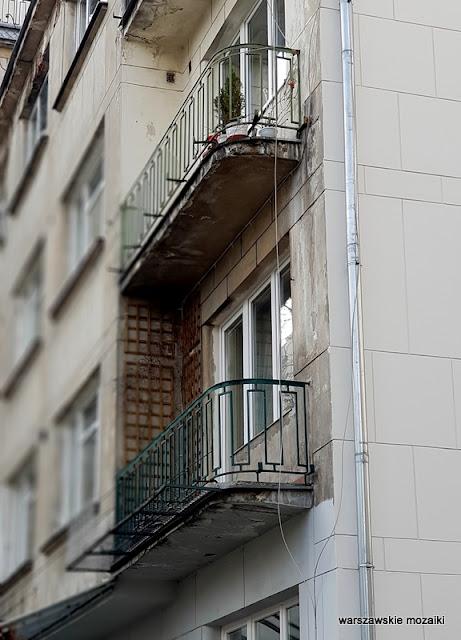 balkon warszawa warsaw warszawskie ulice funkcjonalizm architektura przedwojenne