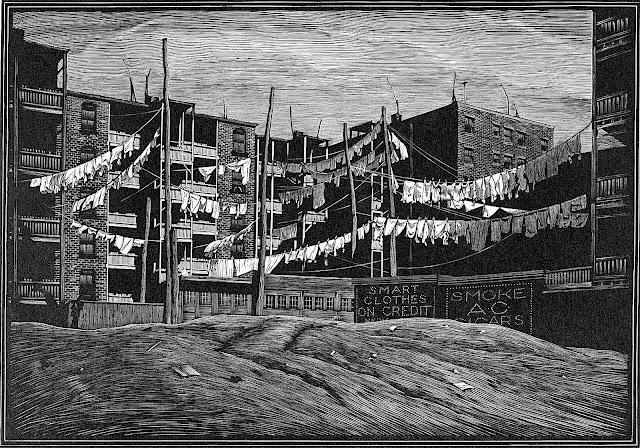 Asa Cheffetz 1932 art, a neighborhood print