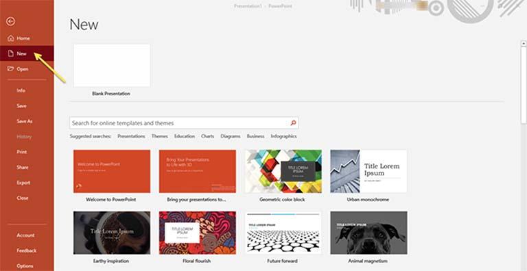 Cara Mencari Template dan Tema PowerPoint Secara Online