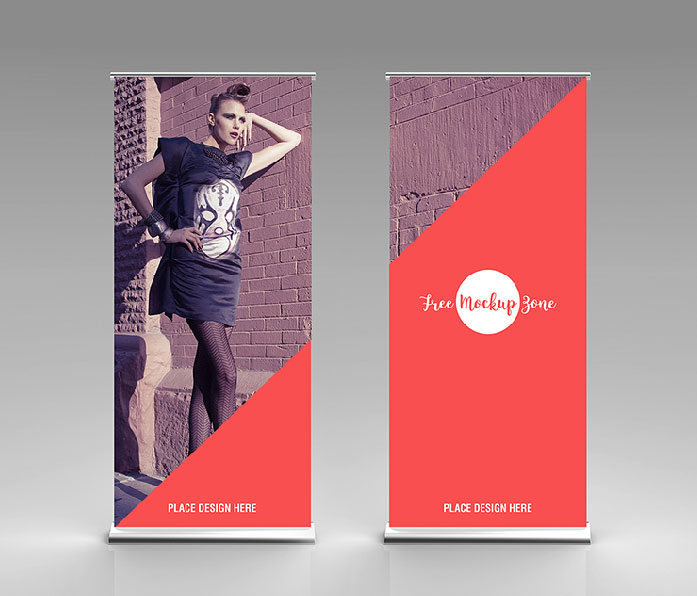 Free Rollup Mockup For Advertisement