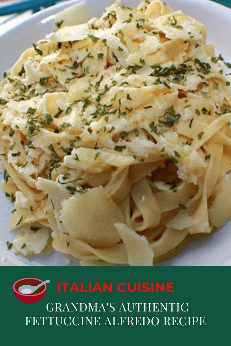 this is dish of fettuccine authentic style from Rome Italy