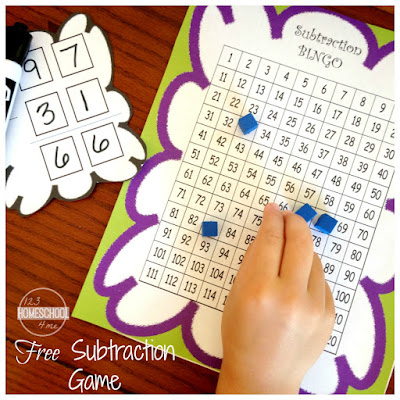 Subtraction Math Game