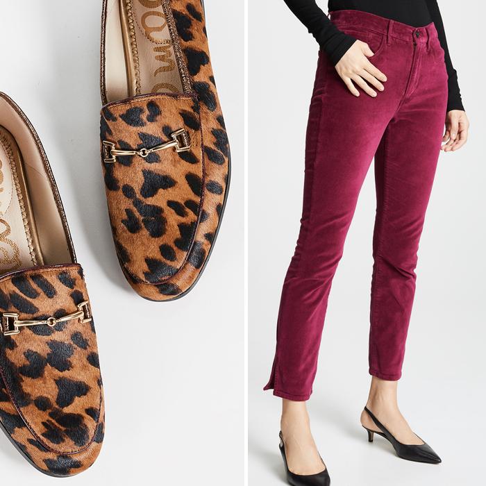 shopbop sam edelman leopard loafers burgundy jeans