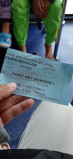 tiket bus brt banjarkuala harganya sangat terjangkau
