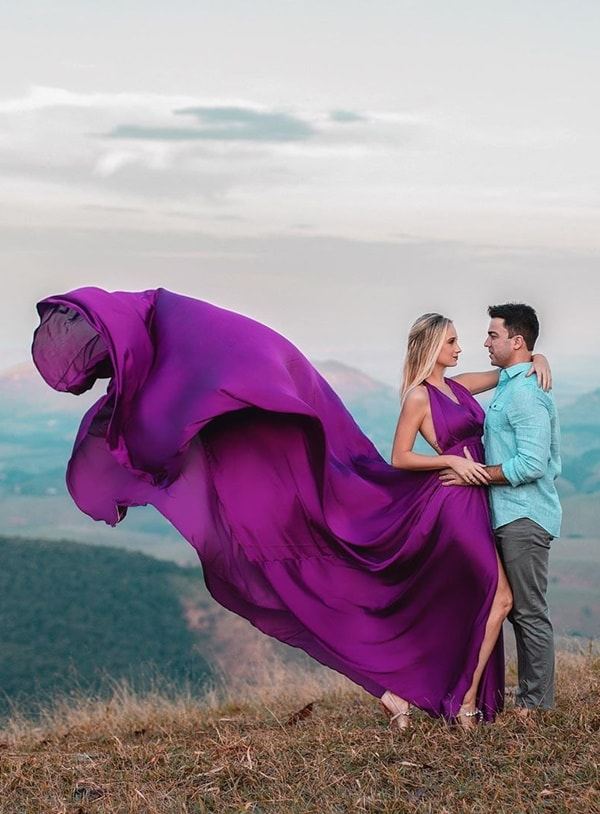 vestido longo fucsia para madrinha de casamento