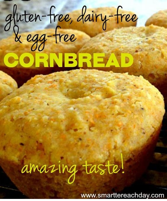 Gluten Free, Egg Free, Dairy Free Cornbread